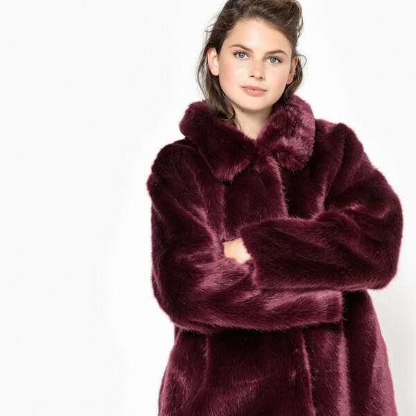 Manteau imitation fourrure, La Redoute, actuellement à 58,49€