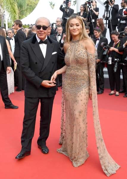 Cannes - Montée des Marches pour le 70ème anniversaire : Fawaz Gruosi & Rita Ora
