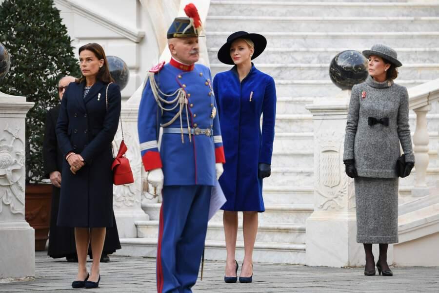 Fête nationale à Monaco - Stéphanie de Monaco, Charlène de Monaco et Caroline de Monaco