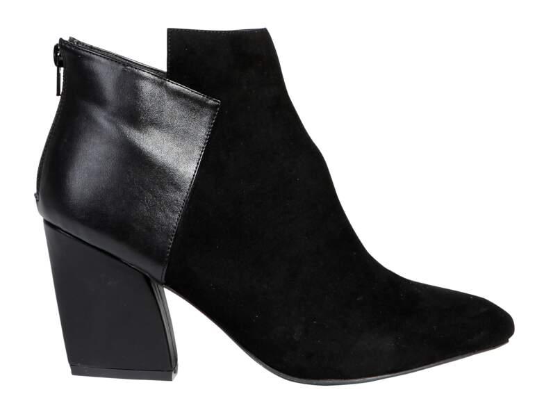 Low boots bimatières, U Collection, 20€