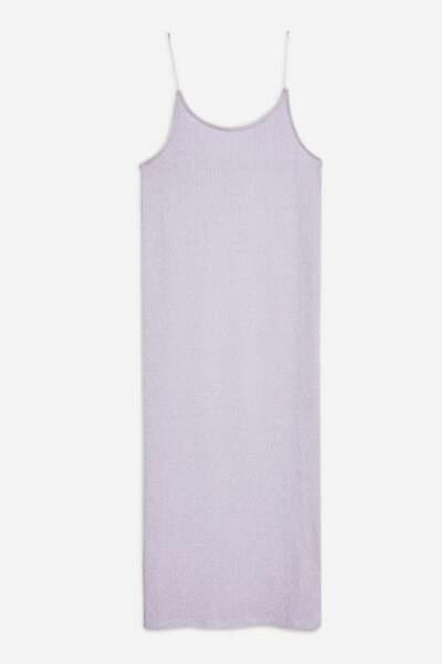 robe midi côtelée en lurex, Topshop, 29€