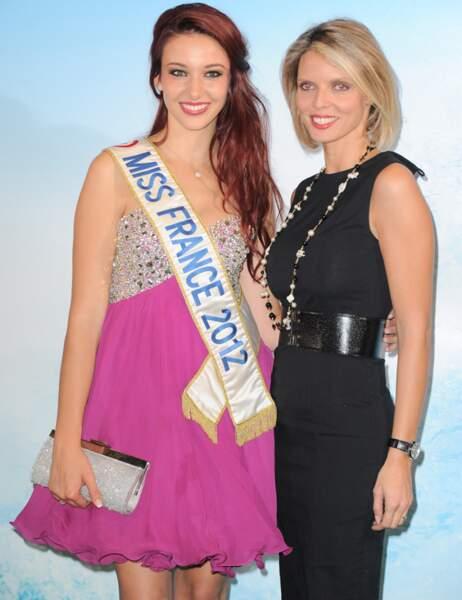 Delphine Wespiser (Miss France 2012) et Sylvie Tellier