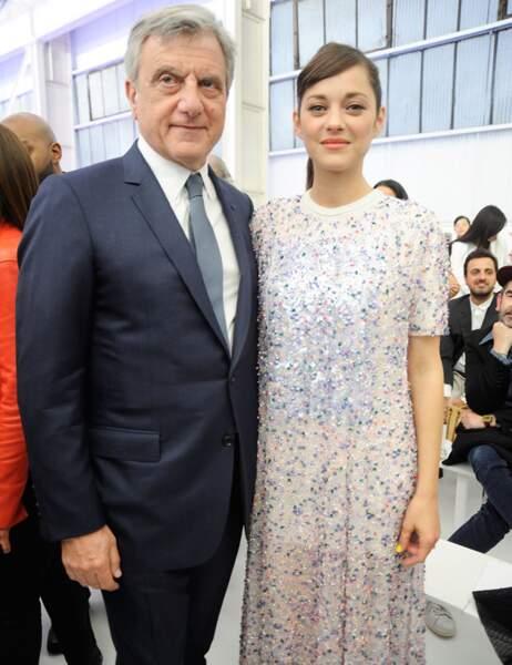 Marion Cotillard et Sidney Toledano, le patron de Dior