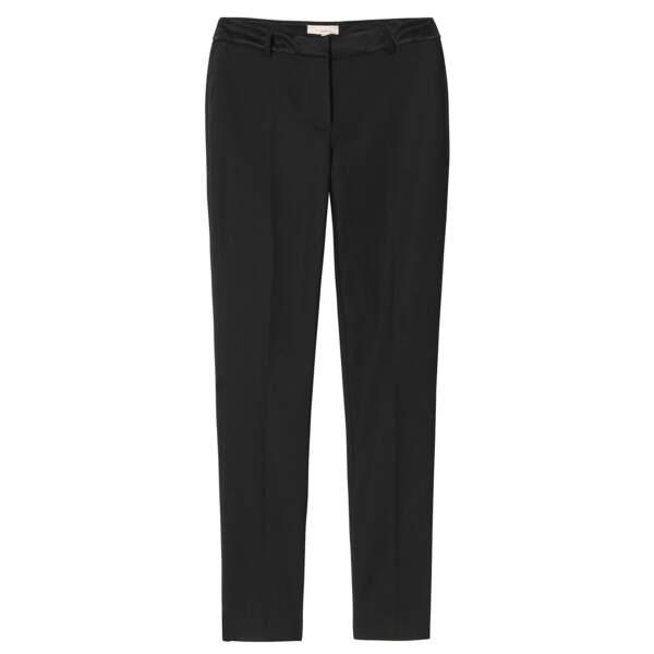 Caroline Receveur x Morgan : pantalon droit détails satin, 70 euros