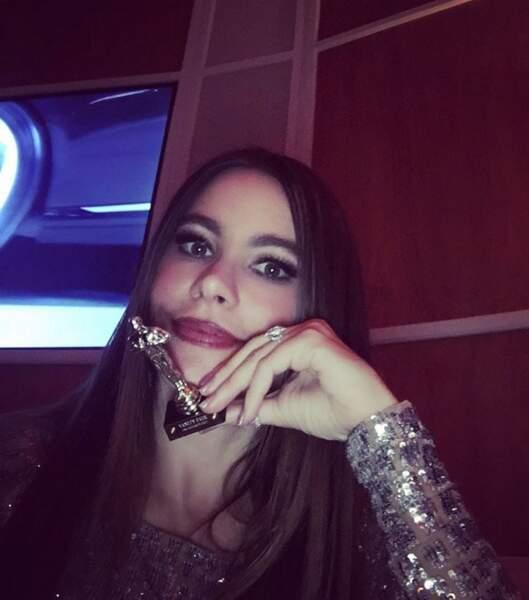 Sofia Vergara : à défaut d'avoir un Oscar, elle en a volé un mini