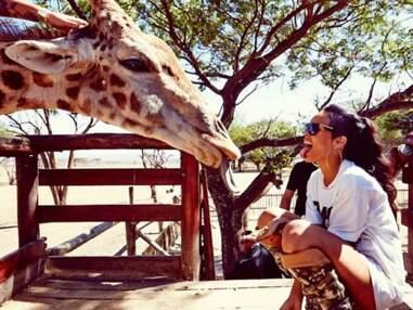 Rihanna s'amuse avec des animaux sauvages en Afrique