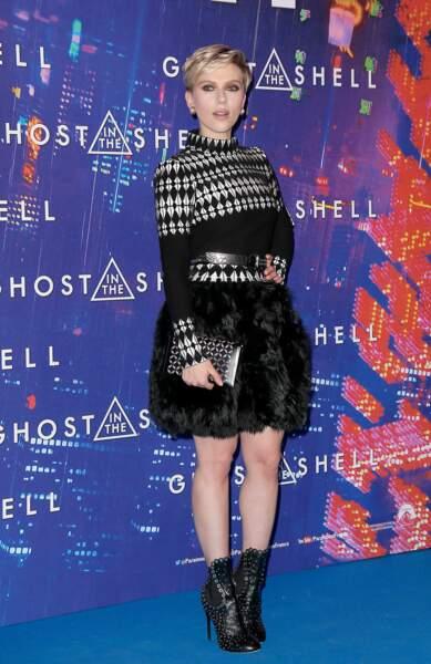 Avant-première de Ghost in the Shell : Scarlett Johansson