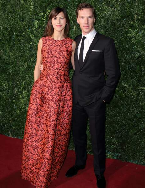 Le comédien Benedict Cumberbatch et sa fiancée, Sophie Hunter