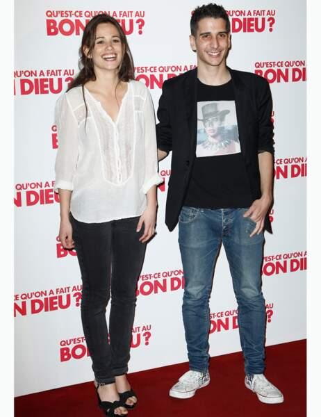 L'actrice Lucie Lucas et un ami
