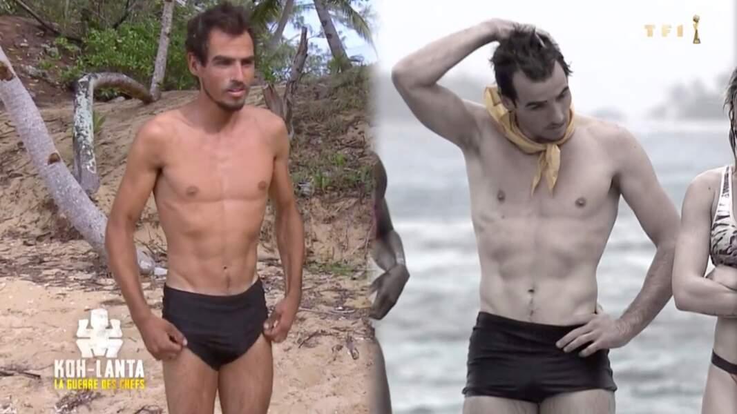 Entre 75 et 65 kilos, le cascadeur a le même corps...