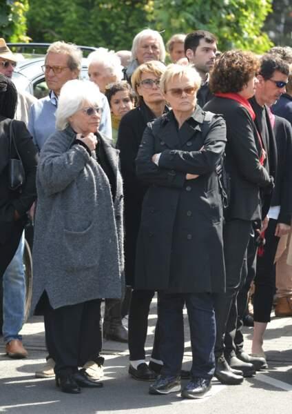 Obsèques de Maurane à Woluwe-Saint-Pierre en Belgique : Catherine Lara et Muriel Robin