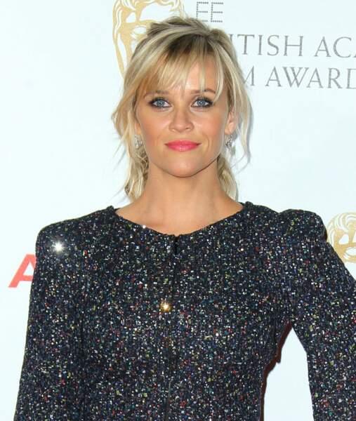 Visage carré : craquez pour une frange effilée à la Reese Witherspoon