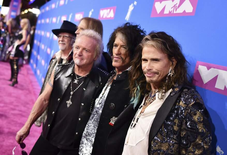 Aerosmith aux MTV Video Music Awards 2018, le 20 août, à New York