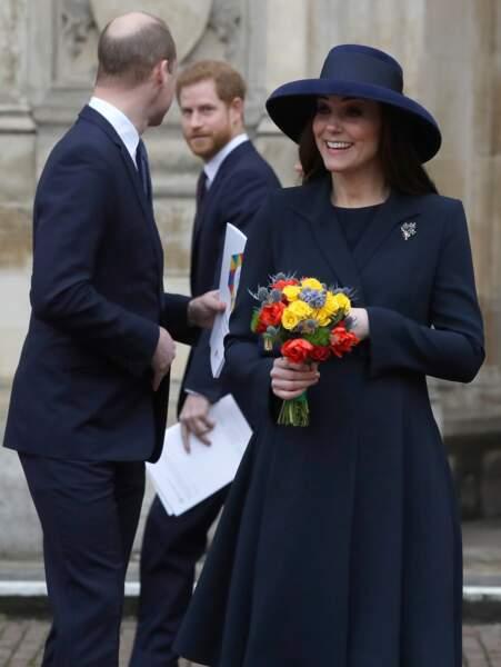 Le prince William, son frère Harry et Kate Middleton