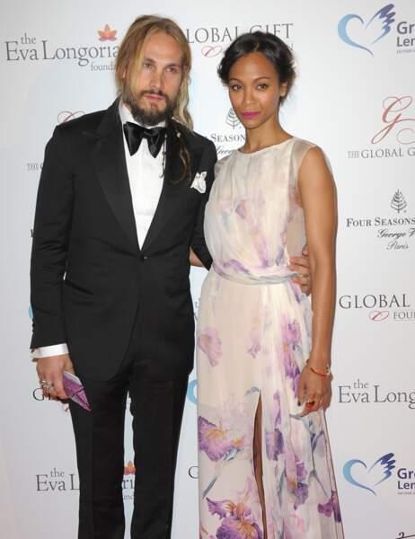Zoe Saldana et son époux Marco Perego