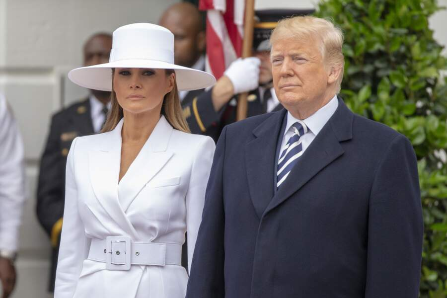 Melania et Donald Trump reçoivent Brigitte et Emmanuel Macron à la Maison Blanche