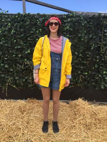 Marvellous Island Festival 2016: Marie-Charlotte avait opté pour une salopette courte, un ciré et un bandana