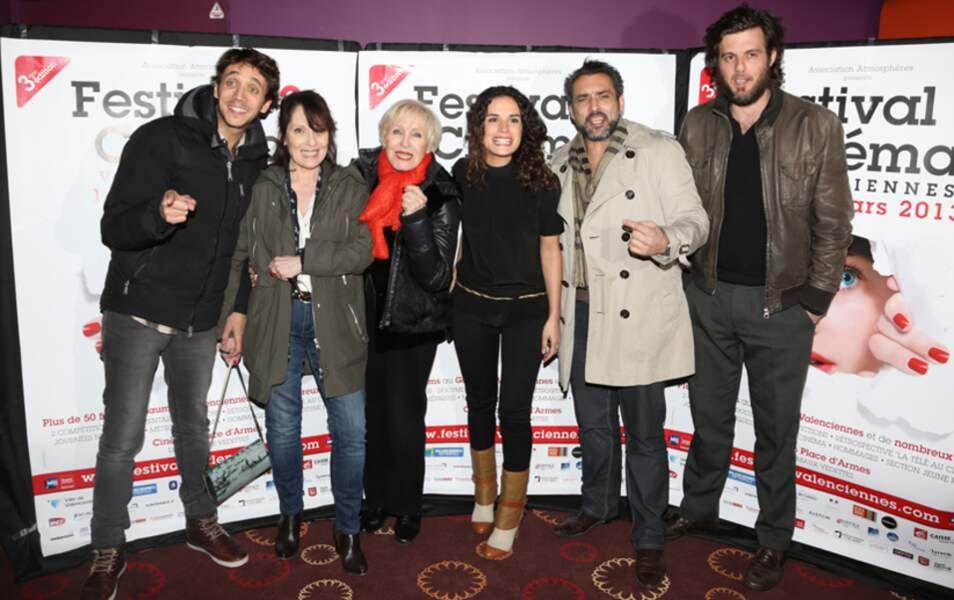 Chantal Lauby, Nicole Croisille, Brabara Cabrita et Jean-Pierre Martins