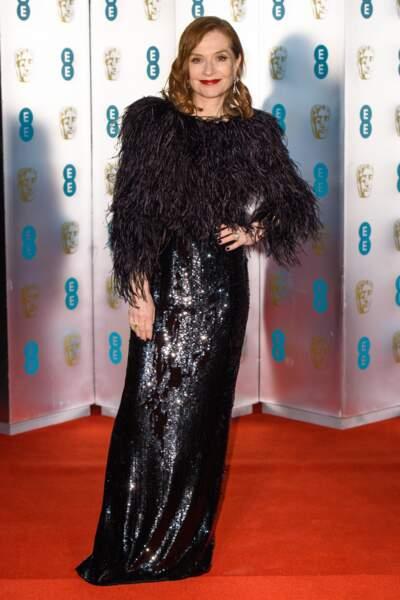 Isabelle Huppert aux BAFTA Film Awards 2018 à Londres, le 18 février