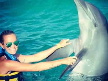 DIAPO Quand la famille Hallyday rencontre les dauphins