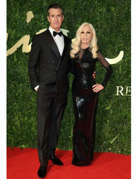 L'acteur Rupert Everett et Donatella Versace