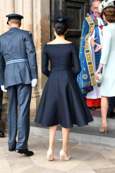 Meghan Markle en Christian Dior au centenaire de la Royal Air Force, à Londres