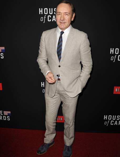 Kevin Spacey, aussi élégant que son personnage de House of cards
