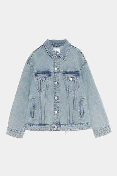 Veste en jean oversize, Zara, 49,95€