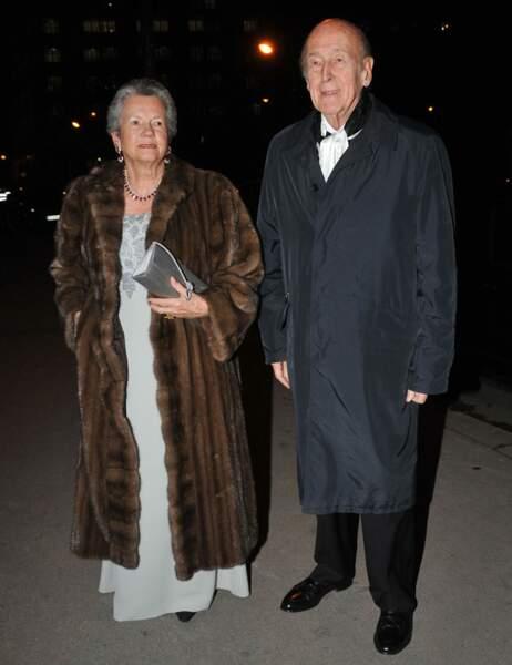 Le président Valéry Giscard d'Estaing et sa femme Anne-Aymone