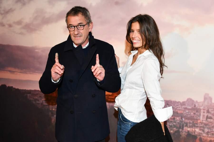 Christophe Dechavanne et sa fille Ninon à l'avant-première d'Holy Lands, le 4 décembre à Paris