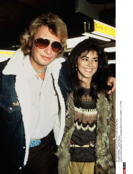 1980 : Johnny Hallyday et sa deuxième épouse Elisabeth Etienne, dite Babeth