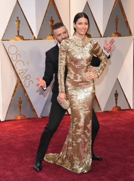 Les plus beaux couples des Oscars 2017 : Justin Timberlake et Jessica Biel