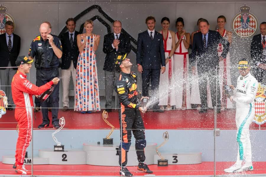 Après la Champagne Shower sur le podium