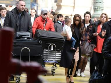 David, Victoria et Harper Beckham à l'assaut des boutiques parisiennes