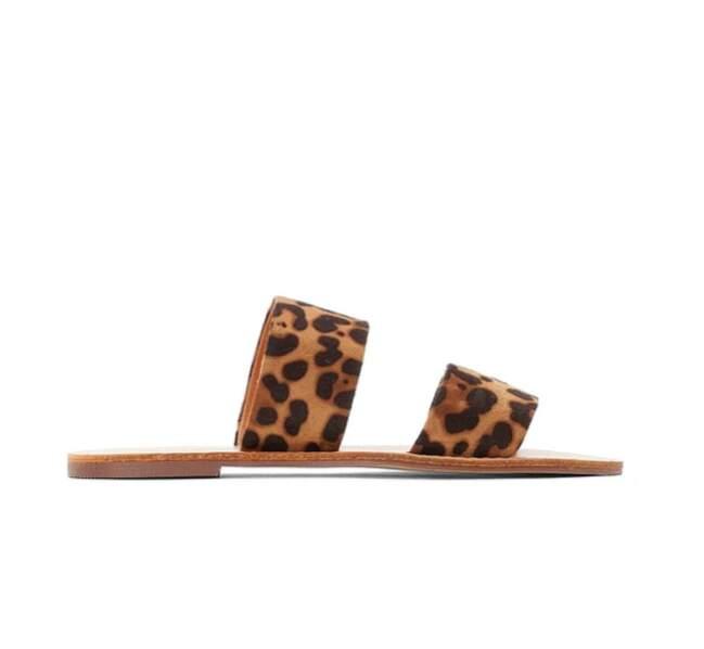 Mules plates imprimé léopard, La Redoute Collections, actuellement à 8€