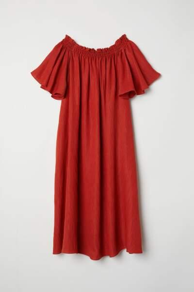 Robe épaules nues, H&M, 23,99 euros au lieu de 39,99 euros