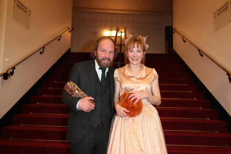 Philippe Katerine et sa compagne Julie Depardieu, visiblement ravis de cette soirée riche en émotions