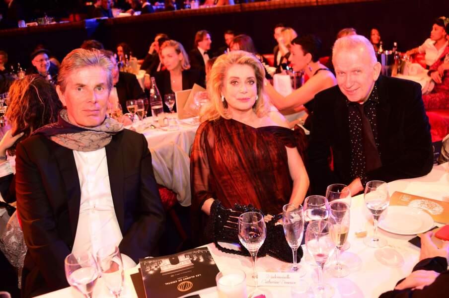 Globes de cristal 2017 : Dominique Desseigne, Catherine Deneuve et Jean Paul Gaultier