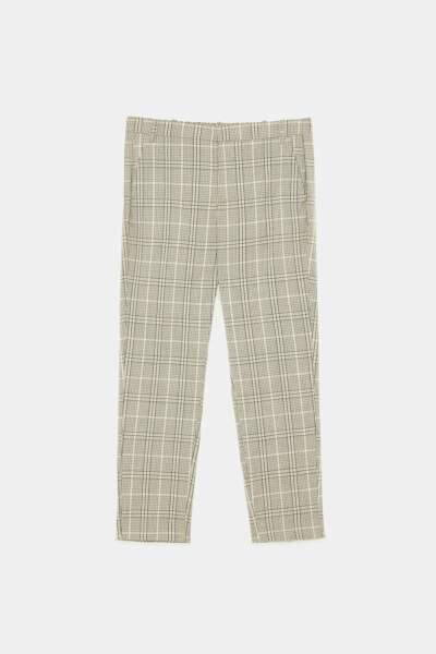 Pantalon à carreaux, Zara, 29,95€