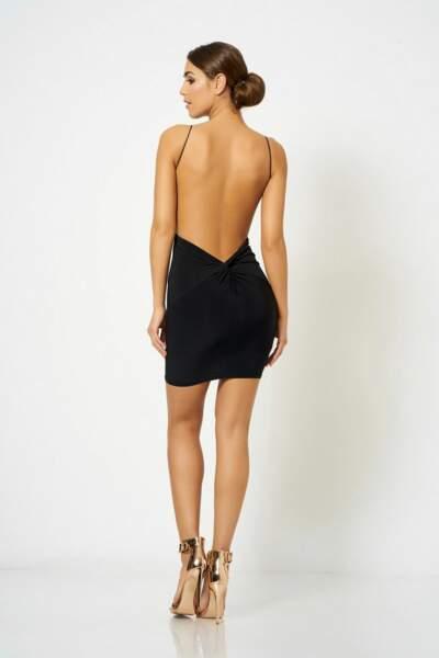 Mini robe noire à dos nu, Topshop, 25€