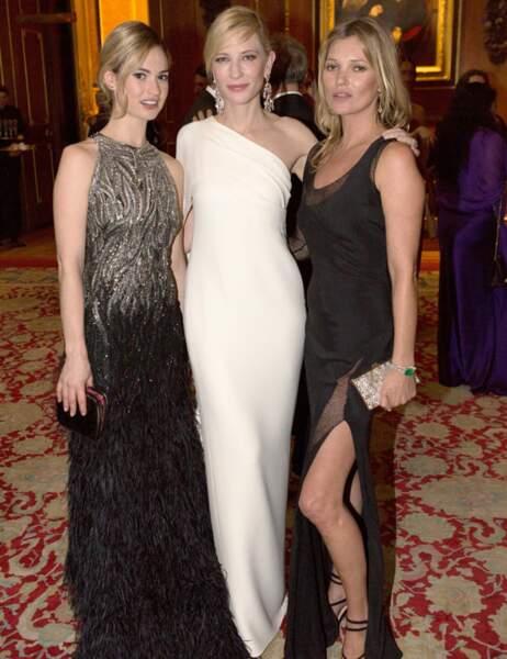 Lily James de Downton Abbey, Cate Blanchett et Kate Moss sous les ors de Windsor, ça en jette