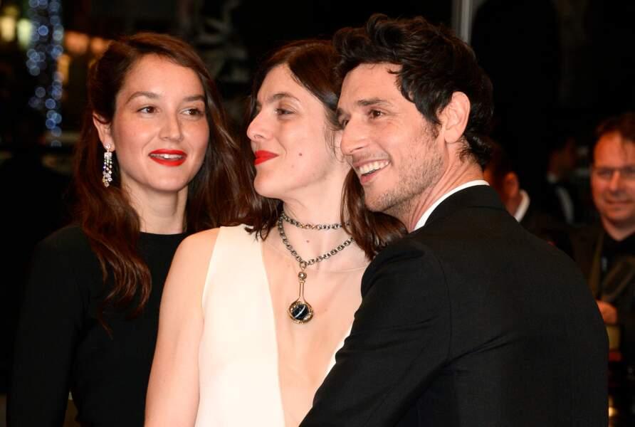 Valérie Donzelli entourée de ses acteurs, Anaïs Demoustier et Jérémie Elkaïm