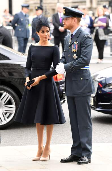 Meghan Markle et le prince Harry au centenaire de la Royal Air Force, à Londres