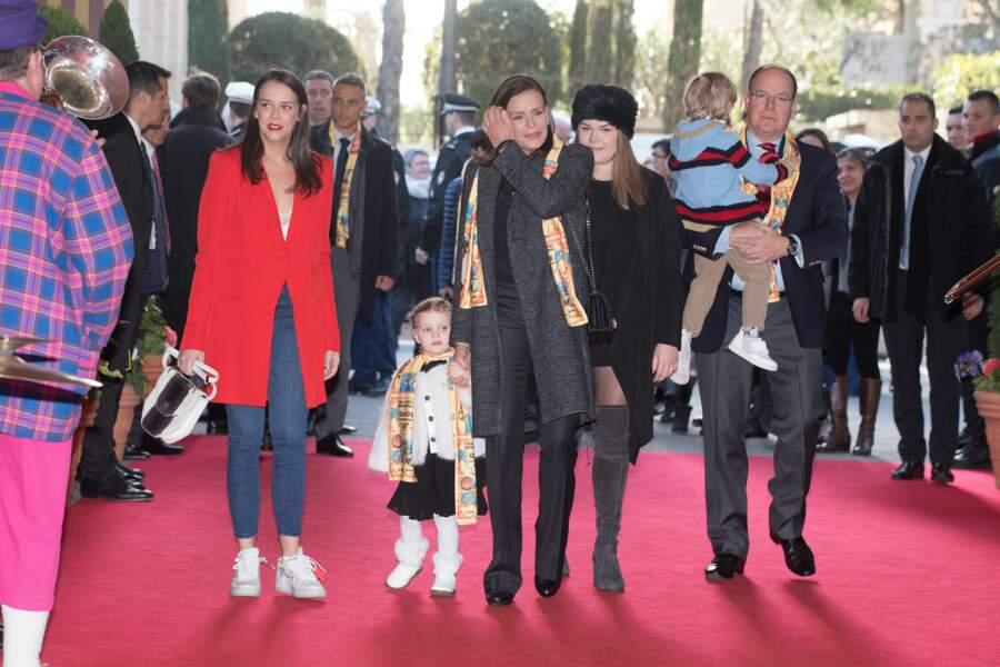 Pauline Ducruet, Stéphanie de Monaco, Camille Gottlieb, Albert de Monaco, Gabriella et Jacques