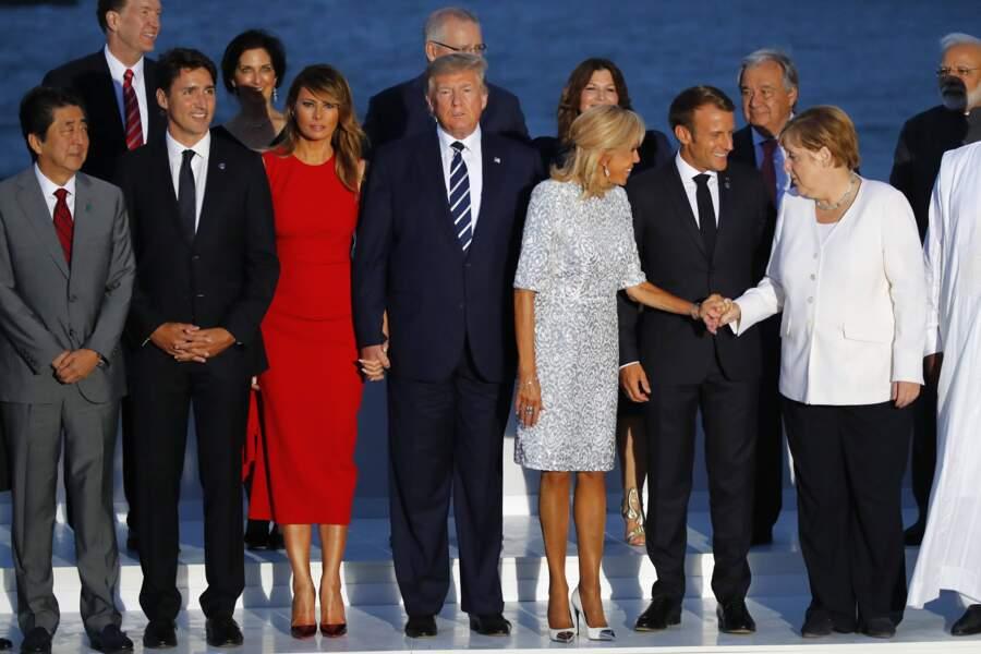 Photo de famille de la 45ème édition du G7, à Biarritz