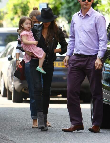 Victoria et Harper Beckham