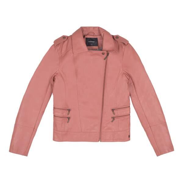 En simili cuir rose vieilli, 59.99€, Bonobo Jeans.