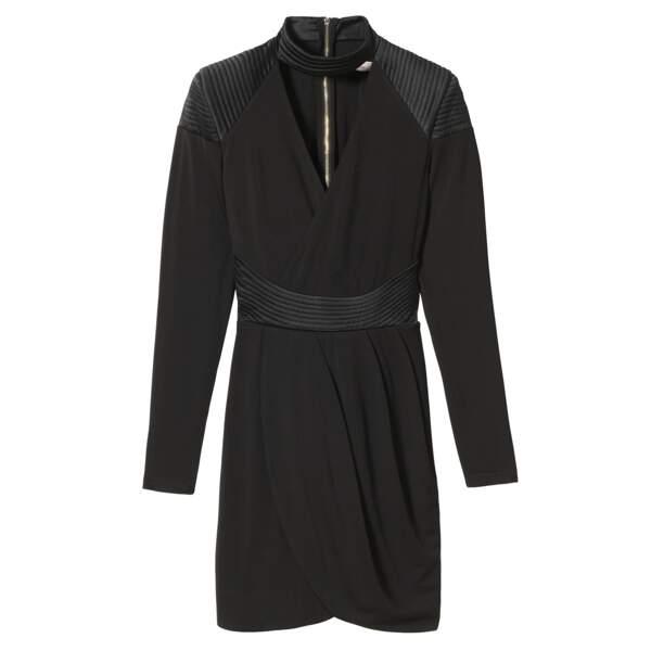 Caroline Receveur x Morgan : robe décolleté profond ceinturée, 90 euros