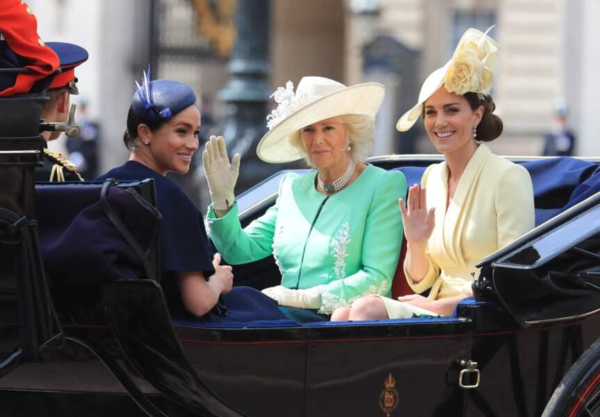 Meghan Markle et le prince Harry face à Camille Parker Bowles et Kate Middleton