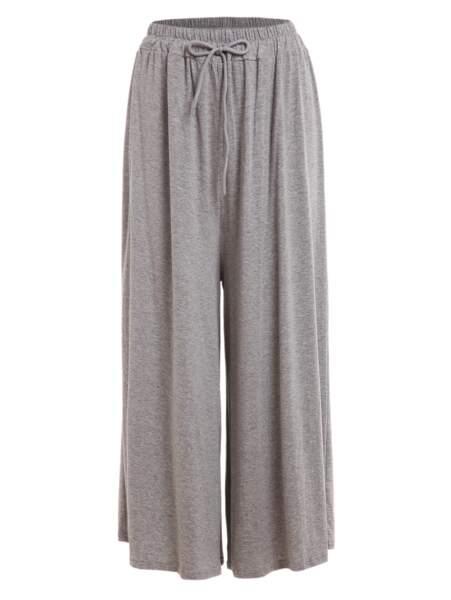Pantalon large taille haute à lacets, Romwe, 7,69 euros